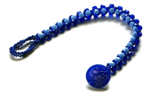 2 Tone Blue Right Angle Weave Bracelet