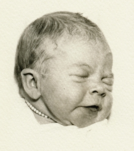 Newborn Linda, with Necklace
