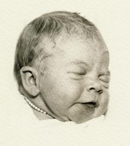 Newborn Linda, with Necklace