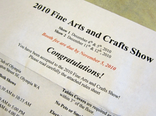 congratulations letter for juried art show.