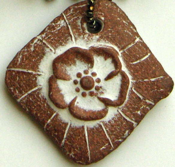 Clay Pendant by Marion Pollmann
