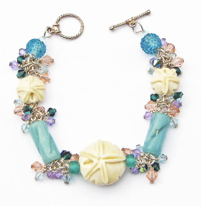 Bracelet with lampwork glass