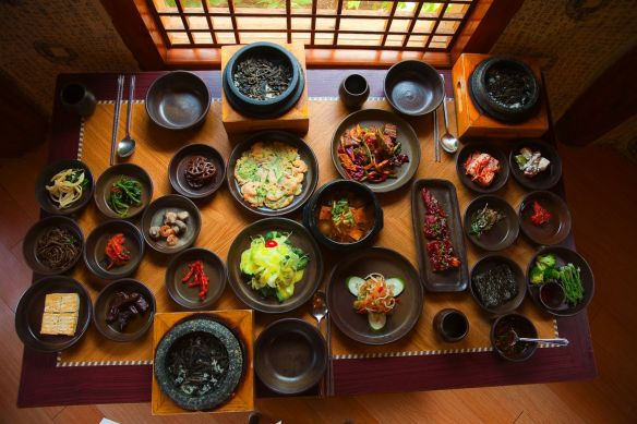 Korean cooking includes many small dishes