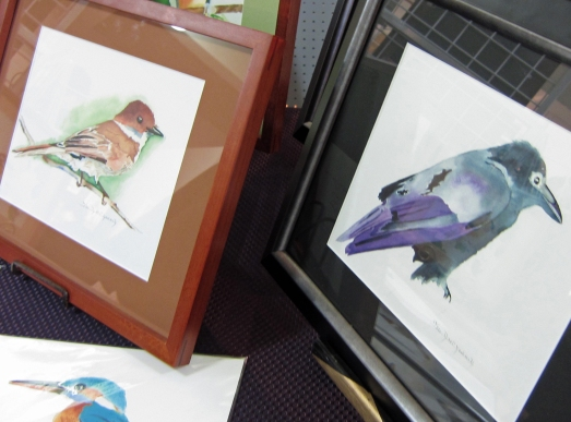 Water color paintings of two birds