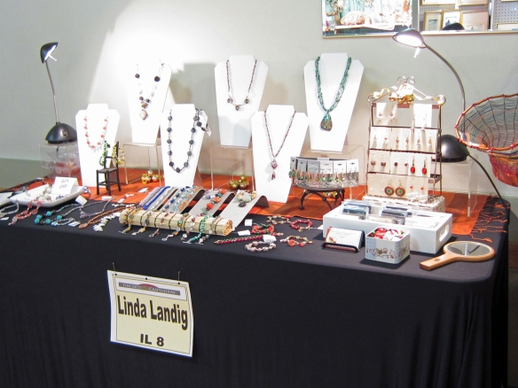 Linda Landig Jewelry at the arts & crafts show Dec 11th