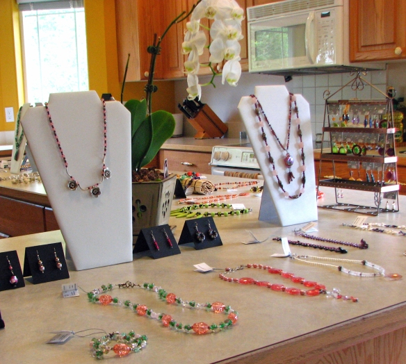 jewelry shopping in my kitchen