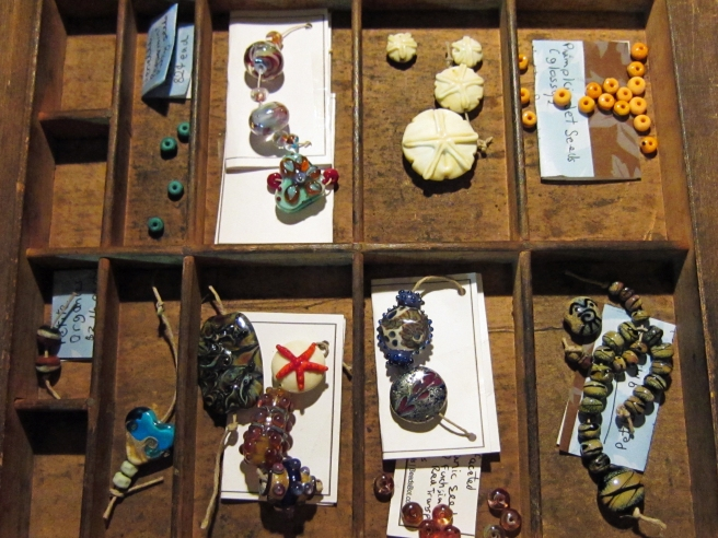 Lampwork glass beads by Beads and Botanicals