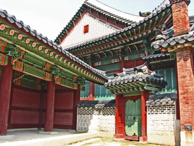 inner courtyard in China