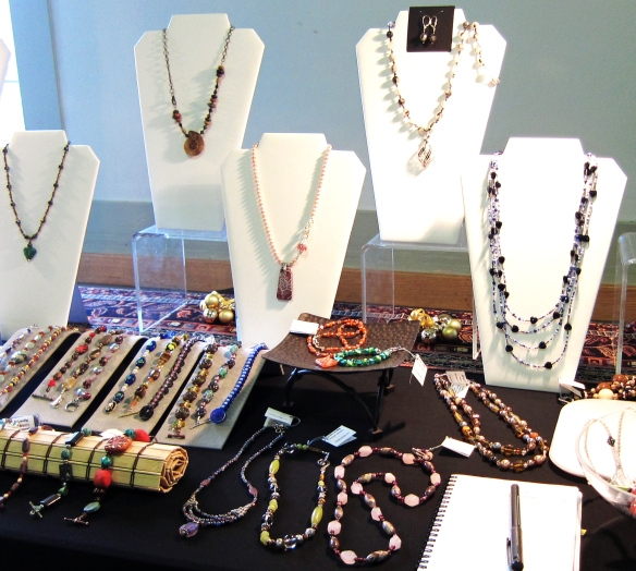 My jewelry booth at my first juried art show