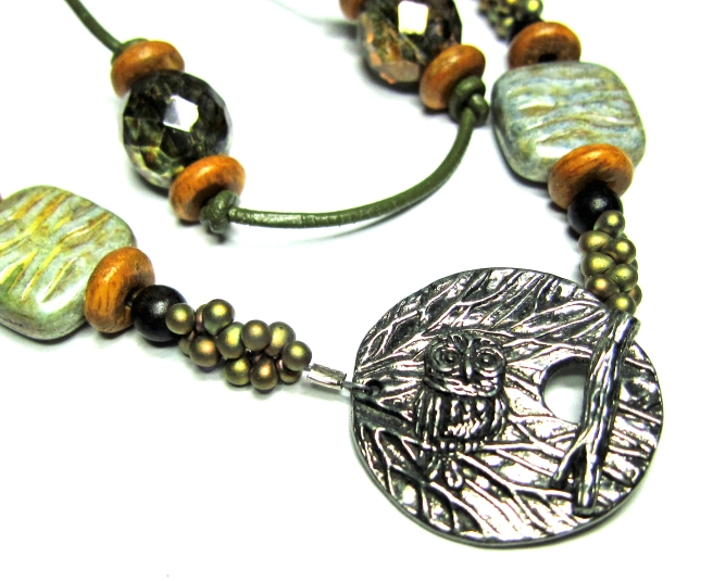Pewter clasp from Green Girl Studios