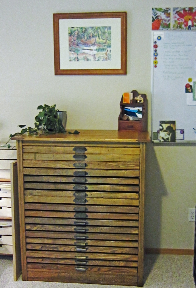 Antique Hamilton Printers cabinet