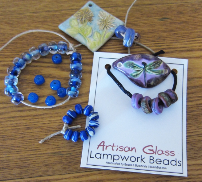 Shaterra Clay Studio pendants and Beads and Botanicals lampwork