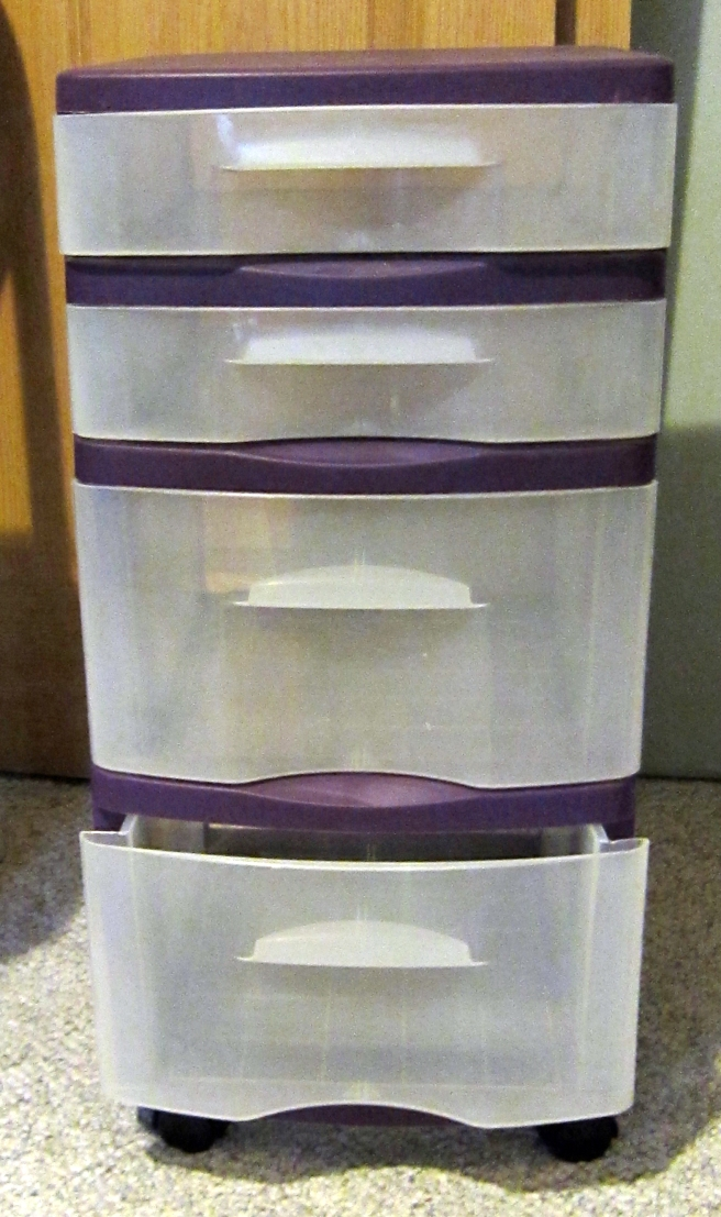 four drawer rolling storage unit