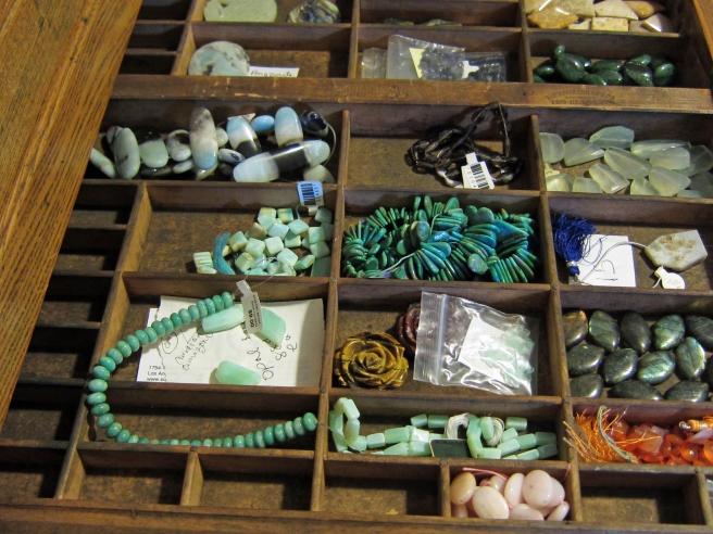 Using a Hamilton printers cabinet for bead organization