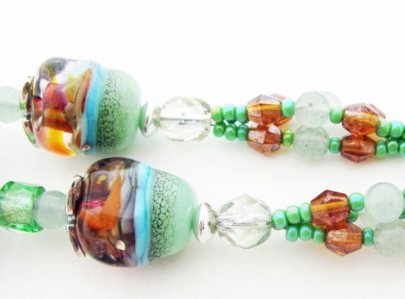 Close up of lampwork glass by Beads and Botanicals