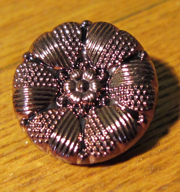 vintage purple glass button