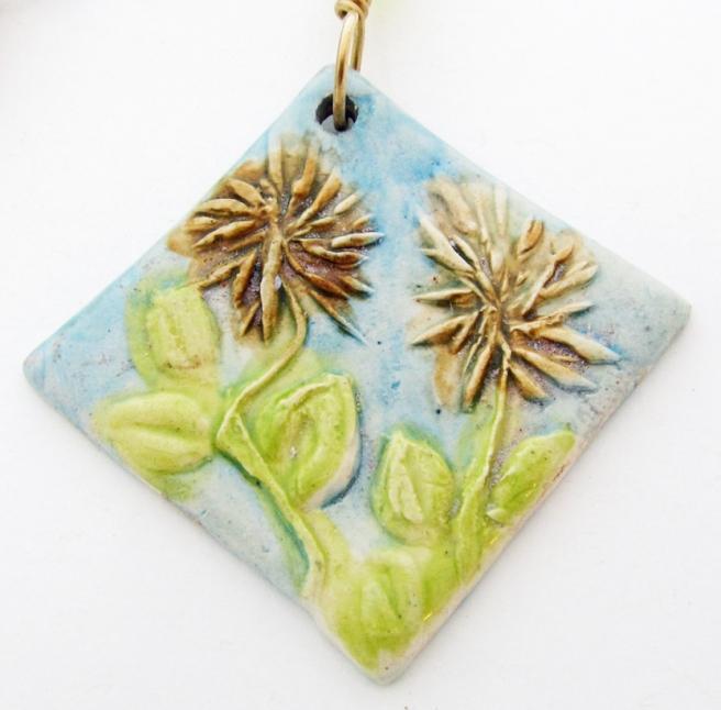 Ceramic flower pendant