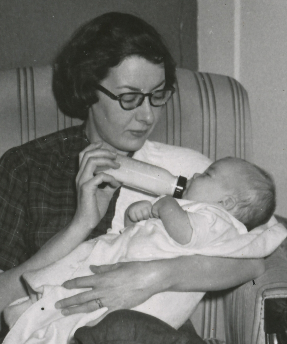 My Mother with me as a baby