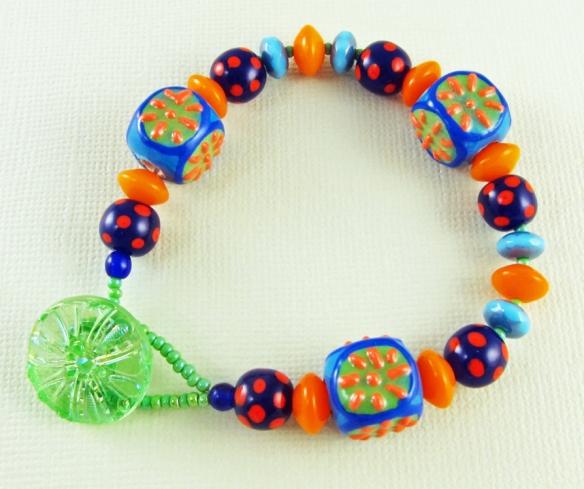 handmade ceramic cube bracelet