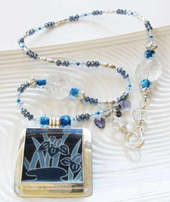 Blue Iris Necklace