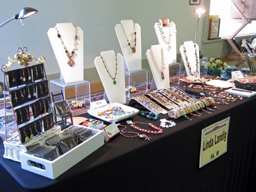 Jewelry display at an Arts and Crafts show