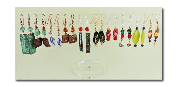10 pairs of handmade earrings