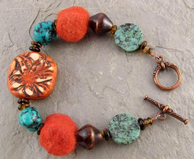 Tiger Lily Bracelet