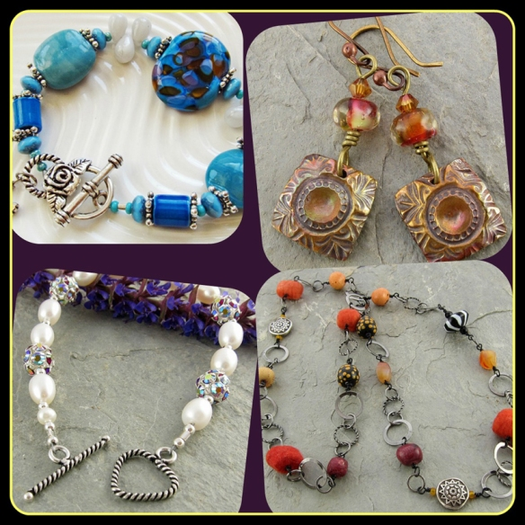bracelets, earrings and a necklace that sold this week