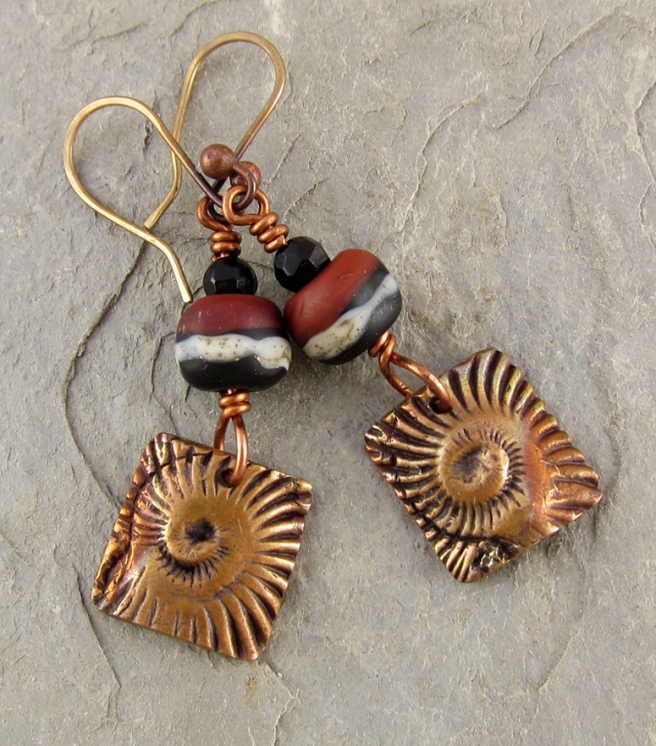 Ammonite Swirl Earrings
