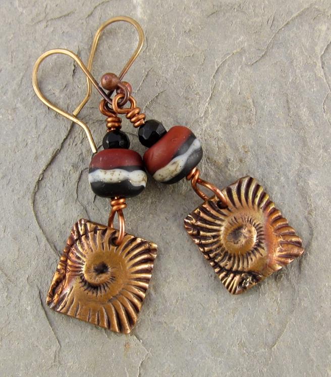 Ammonite Swirl Earrings