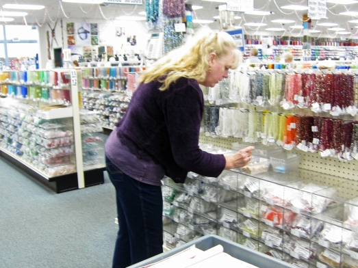 Shopping at Shipwreck Beads