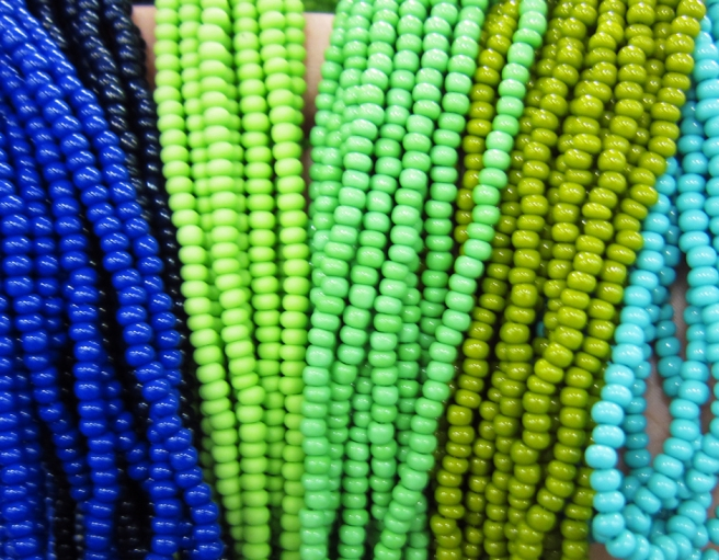 Beautifully colored beads!