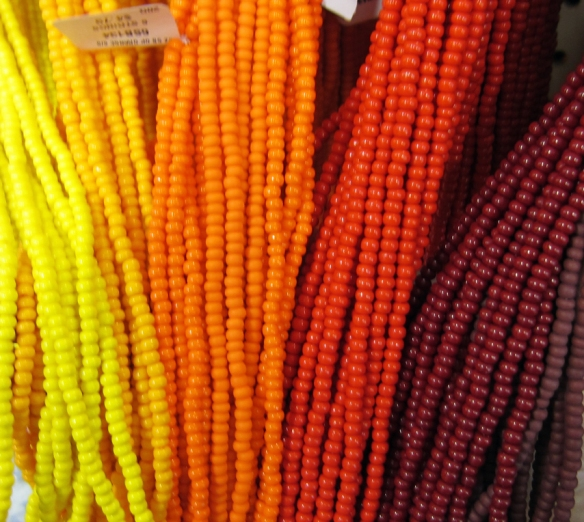 And still more beautifully colored beads.