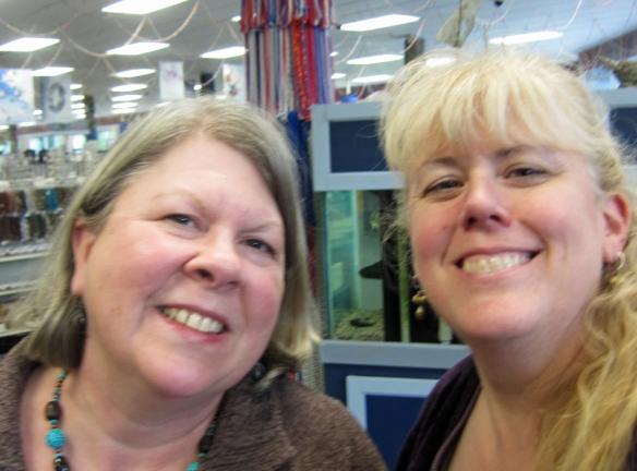 Linda Landig meeting with Kristi Bowman
