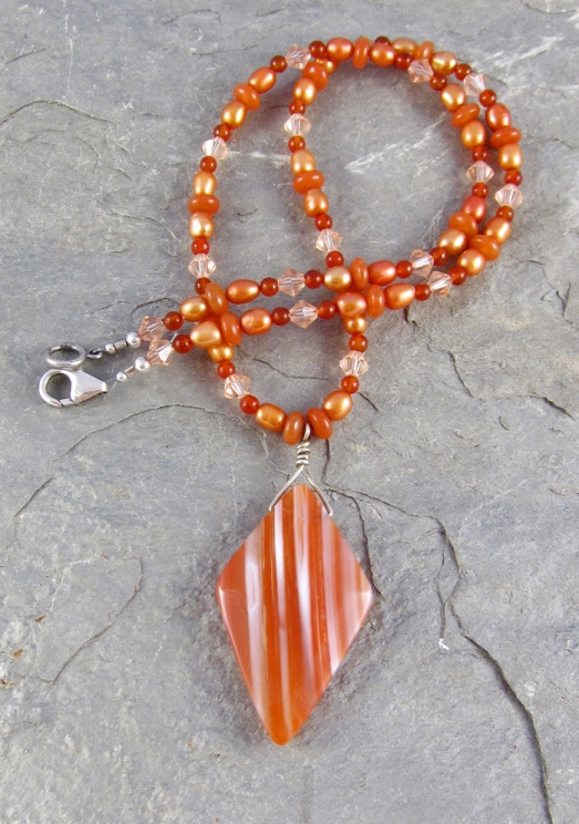 Sardonyx Pendant Necklace