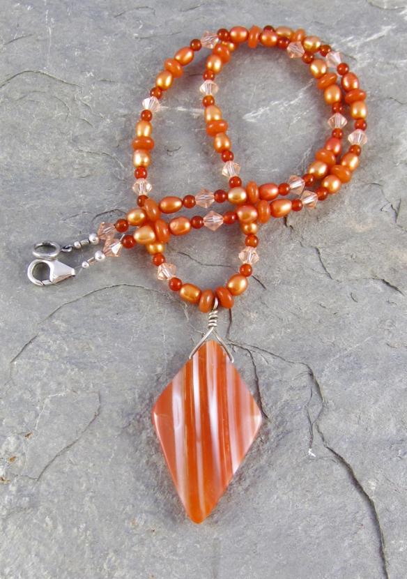 Sardonyx Pendant Necklace