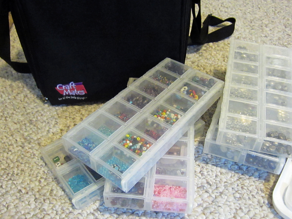 Bead Table Wednesday Treasures Linda S Blog Meanderings & Craft Mates Bead Storage | Crafting