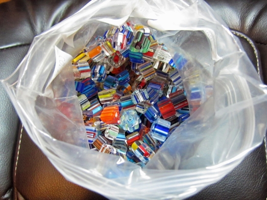 bag of cane glass beads