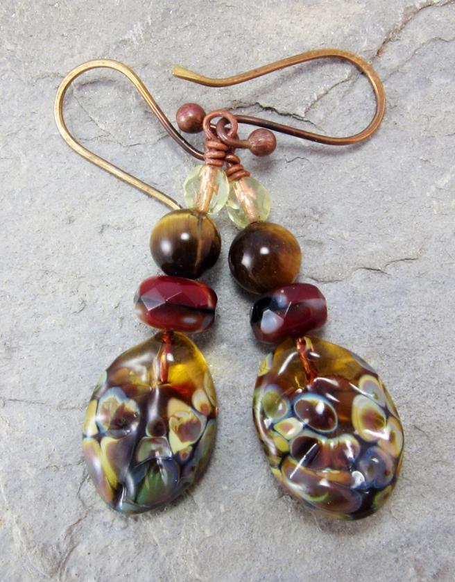 Dappled Leaf Earrings