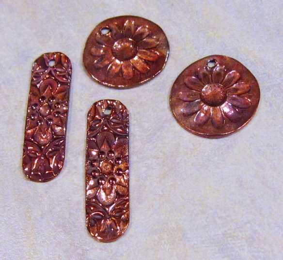 Handmade copper jewelry components
