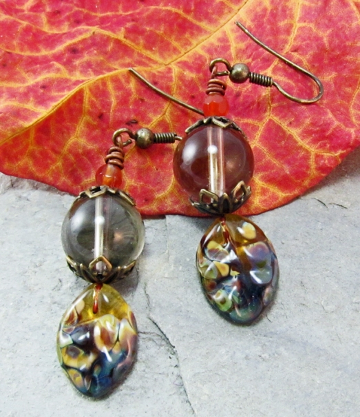 Smoky Autumn Earrings
