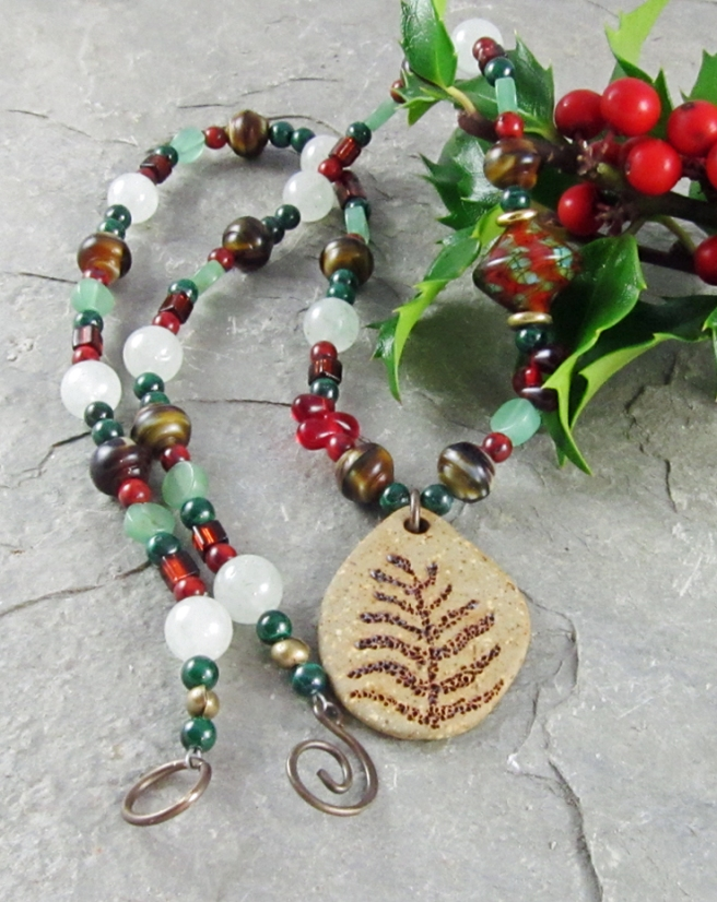 Challenge of Color necklace by Linda Landig Jewelry