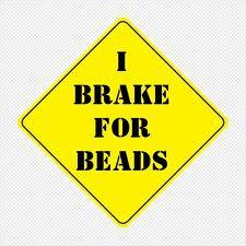beads caution sign