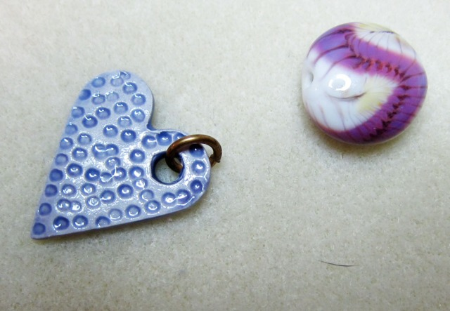 valentines day necklace in progress