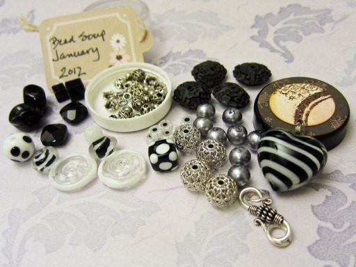 Black and white beads from my partner