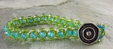 right angle weave bracelet Linda Landig Jewelry