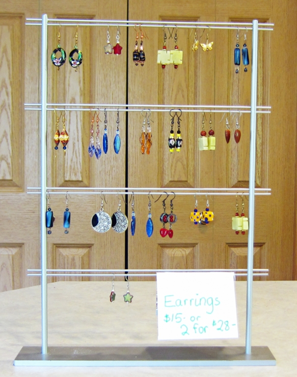 My earring display.
