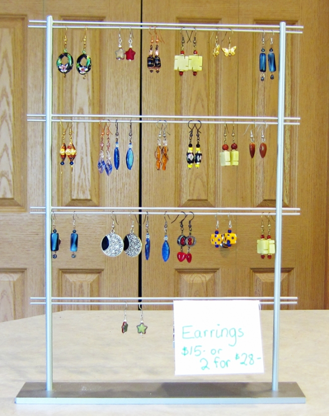 My earring display.