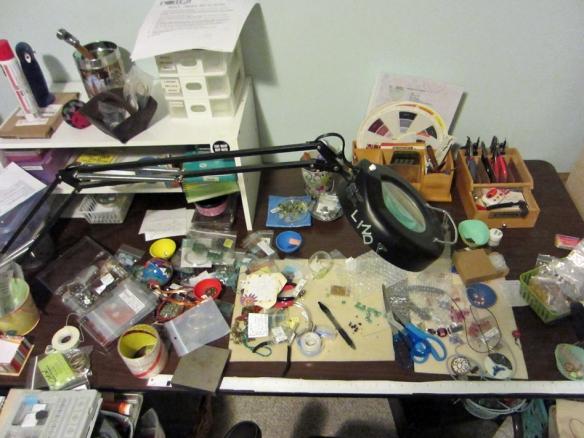 Linda Landig Jewelry work table