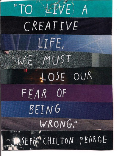 loose our fear of being wrong
